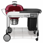 Weber-Stephen Products 15503001 Performer Deluxe Charcoal Grill, Crimson, 22-In.