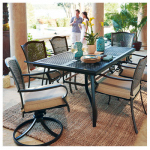 Letright Industrial 723.005.000 Corsica Patio Collection 7-Pc. Dining Set, Tan Cushions & Brown Steel