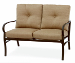 Patio Master ACH05005K01 Bellevue Patio Collection Loveseat, Latt  Cushions & Espresso Aluminum
