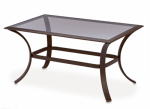 Patio Master AKH09810K01 Bellevue Patio Collection Glass-Top Coffee Table, Espresso Aluminum, 24 x 40-In.