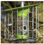 World Source Partners NC005 Roundhaus Small Round Bird Feeder, Lime Green