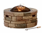 Bond Mfg 67818 Rockford Fire Pit, Envirostone, Wood-Burning, 35-In. Round