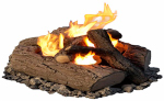Real Flame 320 4-Can Outdoor Log Set
