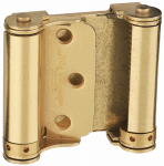 "National Mfg N100-049 3""Sat Brass Double Spring or Spray Hinge"