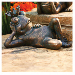 Allen Group Intl AG59041 Lawn Statue, Frog With Crown, Copper Fiberglass