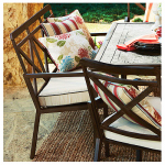Courtyard Creations KTS6332 Geneva Patio Collection Cushion Bench, Light White & Brown, 28 x 59 x 37.5-In.