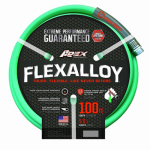 Teknor-Apex 8550-100 Flexalloy Industrial-Duty Garden Hose, Light Green, 5/8-In. x 100-Ft.