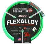 Teknor-Apex 8550-50 Flexalloy Industrial-Duty Garden Hose, Light Green, 5/8-In. x 50-Ft.