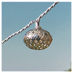 Sienna 624F691P Patio 10-Light Set, Filigree Globe, Battery-Operated