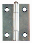 National Mfg/Spectrum Brands Hhi N141-838 Zinc Hinges, Narrow, Light-Duty, 2-Pk., 2 x 1-9/16-In.