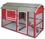 Petmate 7029191D Old Red Barn Chicken Coop, 3-Bay
