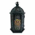 Smart Solar HY0728-S Valencia Patio Lantern, Metal, 13-In.
