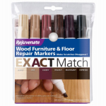 For Life Products RJ6WM Wood Furniture & Floor Repair Markers, 6 Assorted Tones