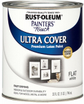 Rust-Oleum 1990-502 QT WHT Flat Latex Paint
