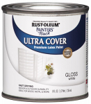 Rust-Oleum 1992-730 1/2PT WHT Gloss or Glass Latex Paint