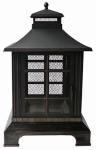 Zhejiang Yayi Metal Technology FP-51045B Hela Fireplace Firepit, 24-In. Sq. x 40.15-In. High