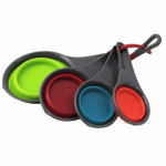 Robinson Home Products 41008C Collapsible Measuring Cups, Multi-Colored, 4-Pc.