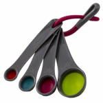 Robinson Home Products 41010C Collapsible Measuring Spoons, Multi-Colored, 4-Pc.