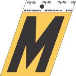Hy-Ko Prod GG-25/M 3-1/2-Inch Black Aluminum Adhesive Letter M