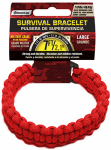 Wellington Cordage NPCB550RL LG RED Surv Bracelet
