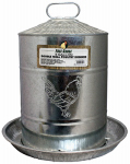 Harris Farms 4213 Poultry Drinker Double-Wall Galvanized Steel, 5-Gals.