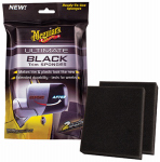 Meguiars G15800 Ultimate Black Auto Trim Sponges, Pre-Treated, 2-Pk.
