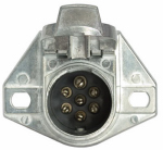 Uriah Products UE700005 Vehicle End Connector, 7-Way Round Pin