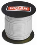 Uriah Products UA521820 Automotive Wire, Insulation, White, 18 AWG, 100-Ft. Spool