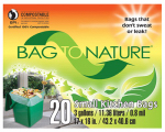 Indaco Mfg MBP35201 Compost Kitchen Bag, 3-Gal., 20-Ct.