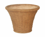 "Allen Group Intl FG5354 8"" Terra Cotta Wicket Planter"