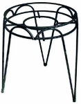 Border Concepts 72250 Hampton Plant Stand, Black Wrought Iron, 10 x 23-In.