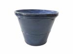 "Allen Group Intl FG5358J2 8"" BLU Glazed Planter"