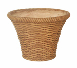 "Allen Group Intl WF01771 20"" Terra Cotta Wicker Planter"