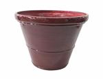 """Allen Group Intl FG5358J 8"""" RED Glazed Planter"""