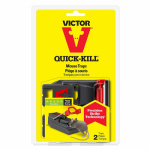 Woodstream M140S Quick Kill Mouse Trap, 2-Pk.