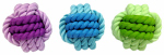 Multipet International 51051 Rope/Rubb Ball Dog Toy