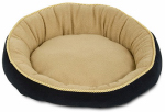 Petmate 28375 Bolster Pet Bed, Round, 18-In.