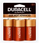 "Duracell Distributing Nc 665112 Quantum Alkaline Batteries, ""D"", 3-Pk."