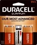 "Duracell Distributing Nc 665211 Quantum Alkaline Batteries, ""9V"", 2-Pk."
