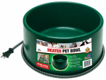 Farm Innovators P-60 Heated Pet Bowl, Thermostat Control, Green, 60-Watt, 1.5-Gals.