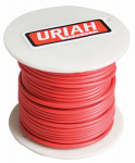 Uriah Products UA521650 Automotive Wire, Insulation, Red, 16 AWG, 100-Ft. Spool