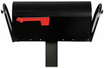 Solar Group E16X2B01 Mailbox, Double-Door, Black Rolled Steel, 10.6 x 8.5 x 23.5-In.