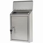 Solar Group HWVK0SS01 Hudson Mailbox, Wall-Mount, Vertical, Stainless Steel, 12 x 8.7 x 3.1-In.