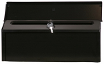 Solar Group CMHK0B04 Castleton City Mailbox, Horizontal, Locking, Black Steel, 6.5 x 15.6 x 3.5-In.