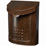 Solar Group MBK694AC Lockhart City Mailbox, Locking, Aged Copper Steel, 14.2 x 11.1 x 5.5-In.