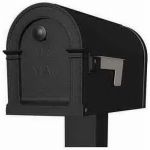 Solar Group PM000B01 Mailbox, Lincoln, Black Plastic, 9.3 x 7.6 x 20.5-In.