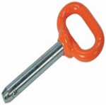 Double Hh Mfg 85312 Detent Pin, Orange Handle, 3/8 x 2-In.