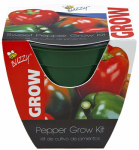 Buzzy 95533 Sweet Pepper Grow Kit, 4-In. Plastic Pot