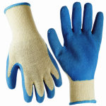 Magid Glove & Safety Mfg 306TL Work Gloves, Latex Coated Palm, Blue, L