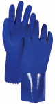Magid Glove & Safety Mfg NB95T Heavy Duty Fabric Lined PVC Glove, Blue, Large, 12-In.